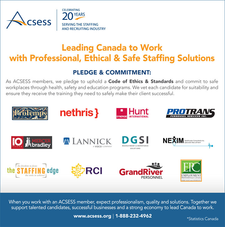 Leading Canada to Work ad